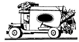Sketch of moving truck